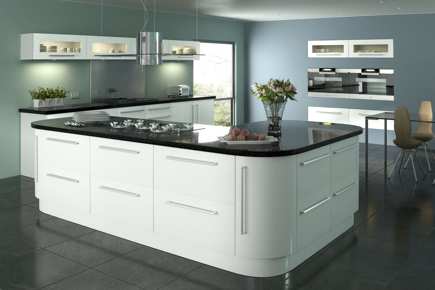 Kas for White high gloss kitchen wall units