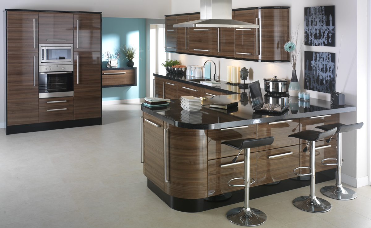 Kas for High gloss black kitchen cabinets